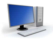 dator 3d Arkivfoton