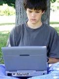 dator för 3 pojke arkivbild