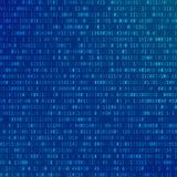 dator för binär kod abstrakt bakgrundsteknologi Ström av noll och en Programmera kodad information stock illustrationer