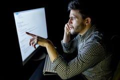 Dator för programvarubärare på den mörka inrikesdepartementet Royaltyfria Bilder