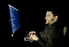 Dator för programvarubärare på den mörka inrikesdepartementet Royaltyfri Fotografi