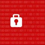 Dator för skydd för en hackerattackkod Arkivfoto