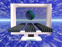 dator fördelad faktisk virus stock illustrationer
