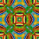 Dator frambragd illustration med abstrakt kalejdoskopisk patt Royaltyfri Fotografi