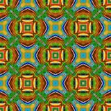 Dator frambragd illustration med abstrakt kalejdoskopisk patt Arkivbilder