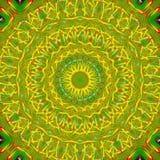 Dator frambragd illustration med abstrakt kalejdoskopisk patt Arkivbild