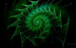 Dator-frambragd spiralabstrakt begreppbild Fotografering för Bildbyråer