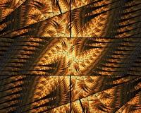 Dator frambragt abstrakt färgrikt fractalkonstverk stock illustrationer