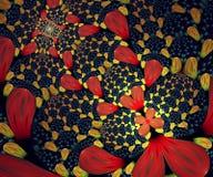 Dator frambragt färgrikt beräknat fractalkonstverk stock illustrationer