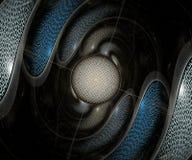 Dator frambragt färgrikt beräknat fractalkonstverk vektor illustrationer