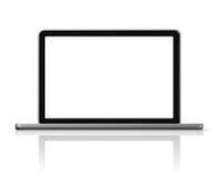 dator isolerad bärbar datorwhite Royaltyfria Foton