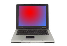 dator isolerad bärbar datorwhite Arkivfoton