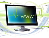 dator online Arkivbild