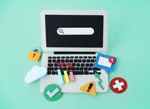 Datoranslutningsinternet som knyter kontakt det Digital begreppet Fotografering för Bildbyråer