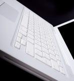 datorbärbar datorwhite Fotografering för Bildbyråer