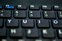 datorbegreppet skriver in interrrogation som den key tangentbordfrågan byter ut yellow Arkivfoto