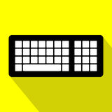 datorbegreppet skriver in interrrogation som den key tangentbordfrågan byter ut yellow Plan design Fotografering för Bildbyråer