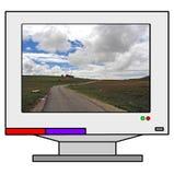 datorbildskärm Arkivbilder