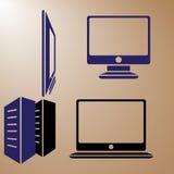 Datorbildskärmar vektor illustrationer