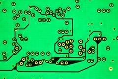 Datorchipmakro, gräsplan Fotografering för Bildbyråer