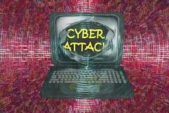 Datorcyberattack, begreppsmässig bild Royaltyfria Foton