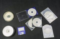 Datordatalagring - disketter och diskett Fotografering för Bildbyråer