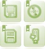 Datordelar stock illustrationer