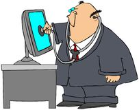 datordoktor Arkivbild