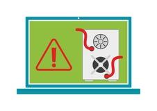 Datoren avmaskar virus Vektor Illustrationer