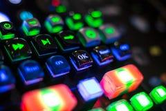 datoren för sammansättning för abstraktionbeginningknappen input den fyrkantiga technotegelplattan för tangentbordet Arkivfoto