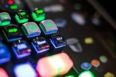 datoren för sammansättning för abstraktionbeginningknappen input den fyrkantiga technotegelplattan för tangentbordet Royaltyfri Bild