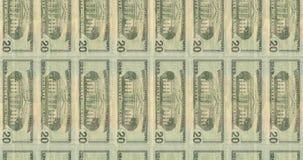 Datoren frambragte längd i fot räknat med övergångar av amerikanska sedlar lager videofilmer