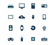 Datoren och apparater sänker symbolen stock illustrationer