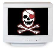 datoren piratkopierar Royaltyfria Bilder
