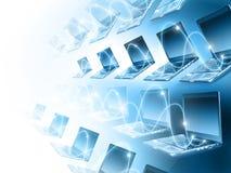 Datorer och kommunikationer Arkivbild
