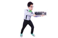 Datorgeeknerd Royaltyfri Bild