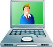 datorgrabb stock illustrationer