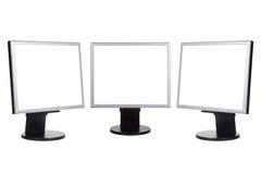 datorgruppbildskärmar royaltyfria bilder