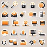Datorklistermärkear Arkivfoto