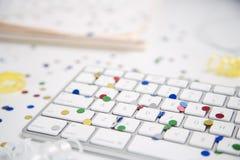 datorkonfettitangentbord Fotografering för Bildbyråer