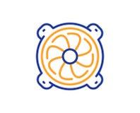 Datorkylarelinje symbol Del- tecken för PCfan vektor stock illustrationer