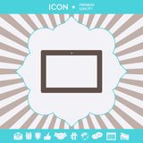 Datorminnestavla med den tomma skärmen, symbol Grafiska beståndsdelar för din design royaltyfri foto