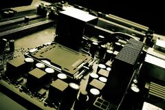 datormoderkort arkivbild