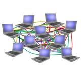 datornät Royaltyfri Bild