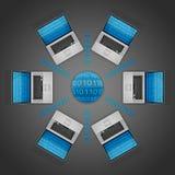 datornät Royaltyfri Fotografi