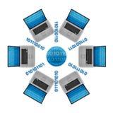 datornät Arkivbilder