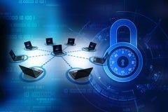 Datornät som isoleras i digital bakgrund Nätverksanslutning, internetbakgrund 3d framför Royaltyfria Bilder