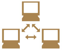 Datornätsymbol Arkivfoton