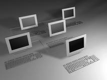 datornätverk vektor illustrationer