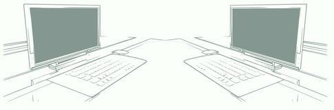 datorpar vektor illustrationer